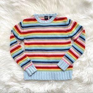 Gap Kids Rainbow Striped Sweater Vintage